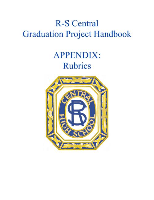Handbook Appendix:  Rubrics