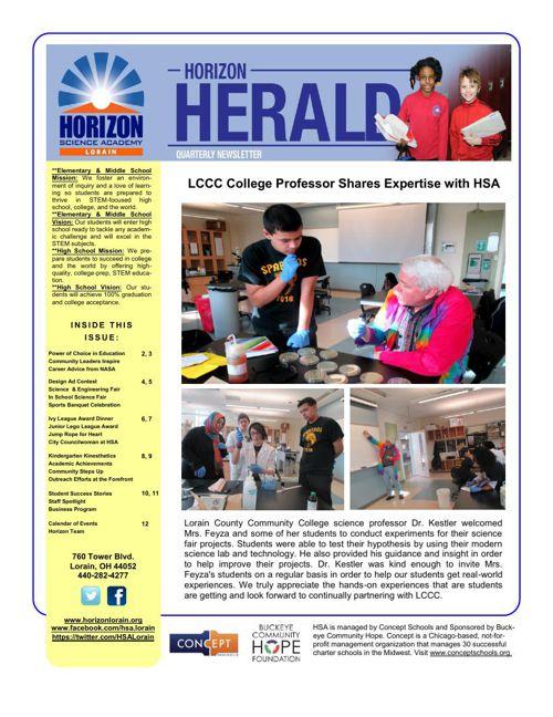 Horizon 3rd Quarter News Letter 14-15