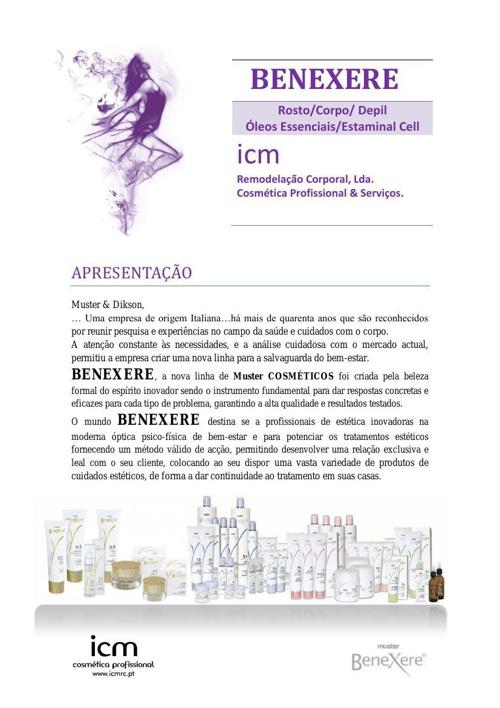 BENEXERE Brochura de apresentação