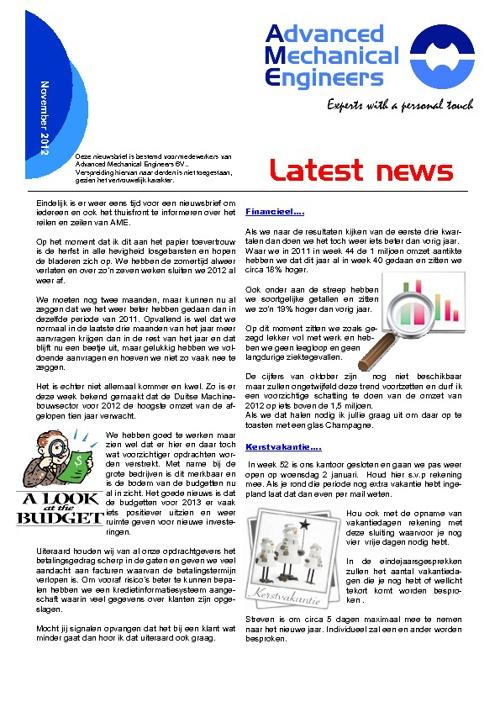 Copy of Nieuwsbrief oktober 2012