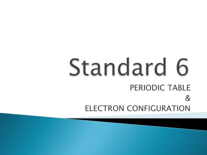 Chemistry -- Standard 4 -- Bonding