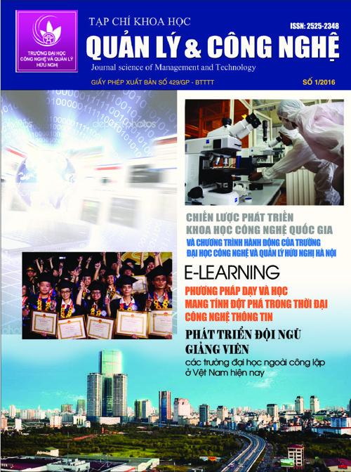 Tạp chí Khoa học Quản lý và Công nghệ - Số 1/2016