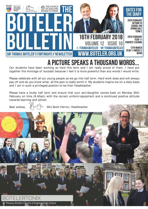 Boteler Bulletin 16th February
