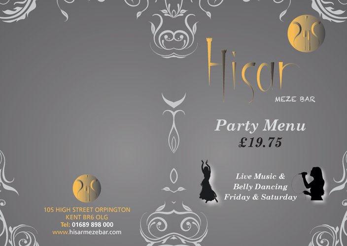 Hisar Meze Bar - Party Menu