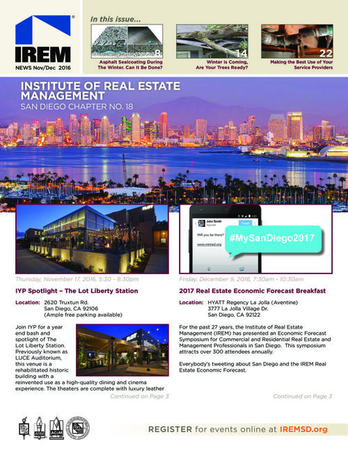 IREMSD Nov-Dec '16 Newsletter