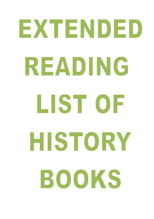 Extended History Reading list