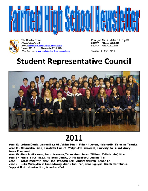 Newsletter, Term 2, 2011