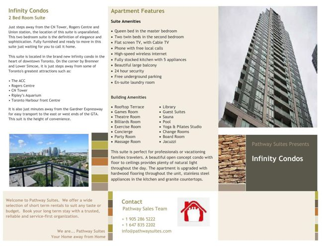 Infinity Condos 2 Bed Room NEW