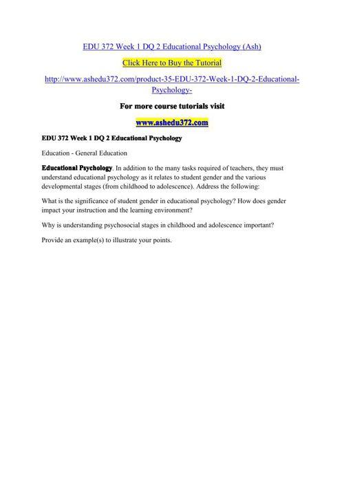 ASH EDU 372 Innovative Educator/ashedu372.com
