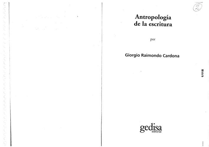 Antropología de la Escritura (3 pdf)