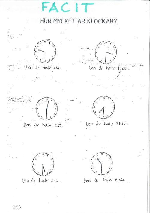 facit klockan