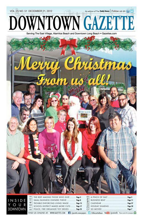 Downtown Gazette     December 21, 2012