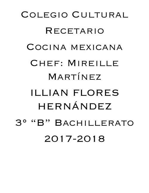 Recetario Final - Illian Flores Hernandez