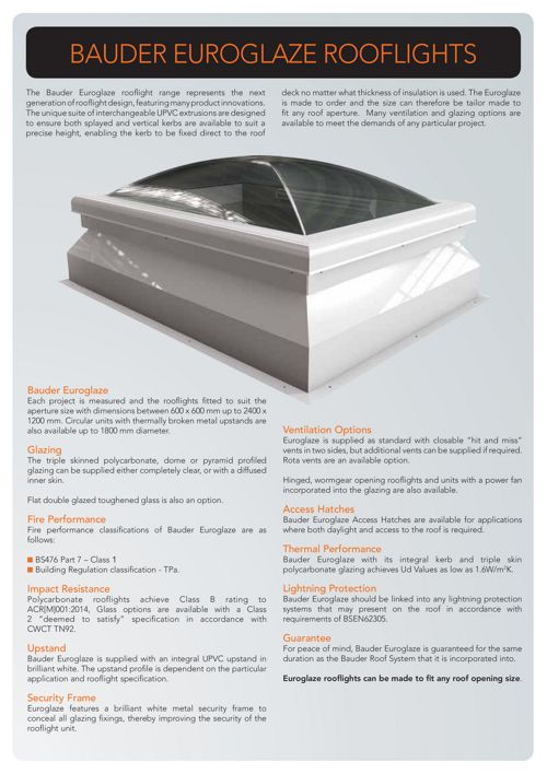 Euroglaze Rooflights - Bauder