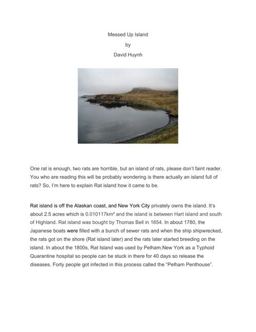 Rats Magazine:Messed Up island