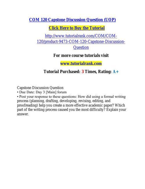 COM 120 learning consultant / tutorialrank.com