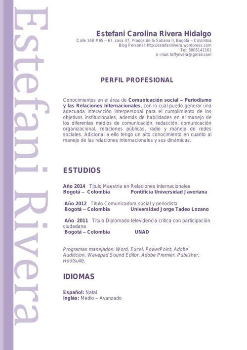 CV Estefani Carolina Rivera