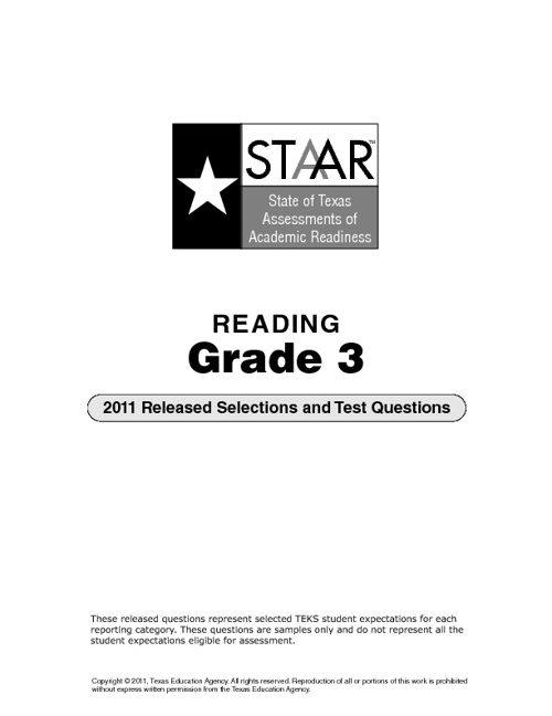STAAR Reading 2011 Released Test Questions