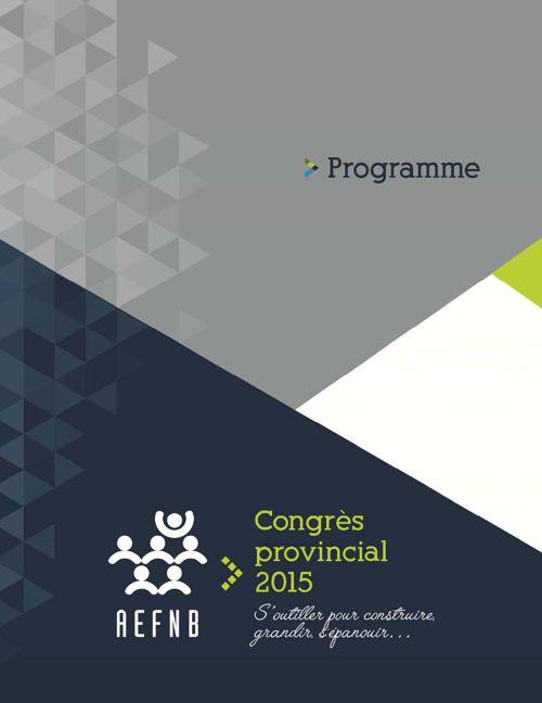 Programme officiel - Congrès 2015