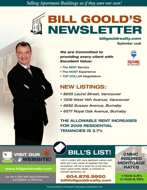 Bill Goold Newsletter Sep 2008