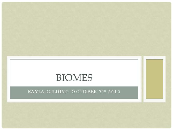 Biomes Book