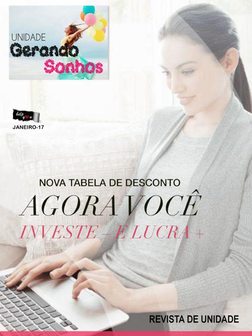 Revista da Unidade Gerando Sonhos - Janeiro- 16