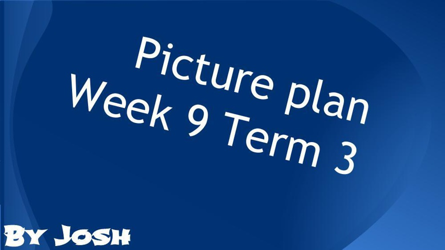 Picture plan Week 9 Term 3