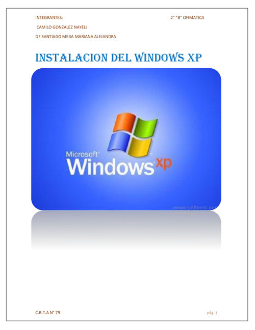 INSTALACION WINDOWS XP