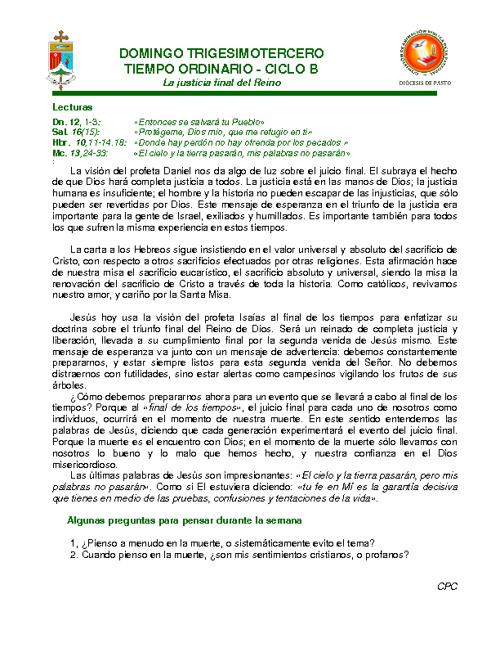 Copy of Lectio Divina Domingo 33