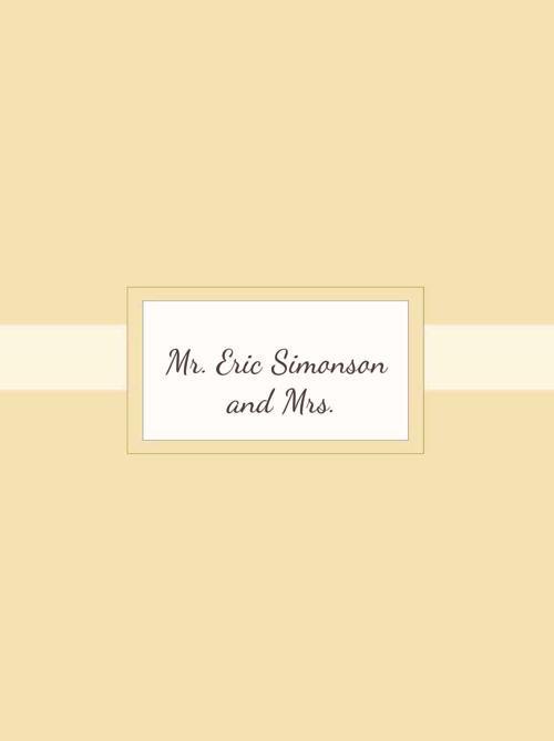 Mr. Eric Simonson and Mrs.
