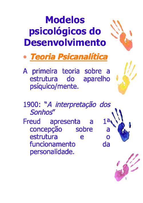 Teoria Psicanalítica do Desenvolvimento