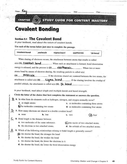 ch 9 study guide key