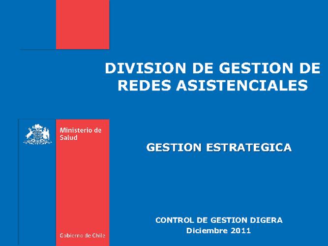 MINSAL - DIGERA, CONTROL DE GESTION