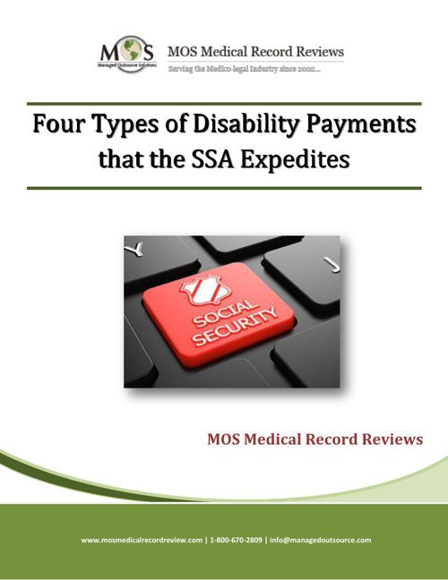 Four Types of Disability Payments that the SSA Expedites