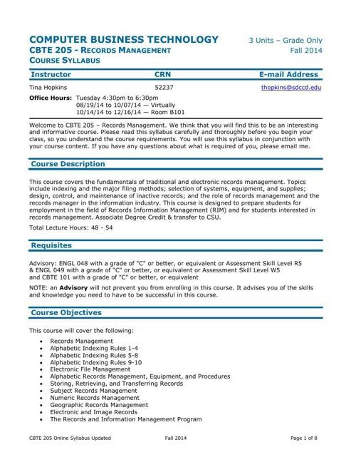 CBT205OnlineSyllabusFA'14Updated