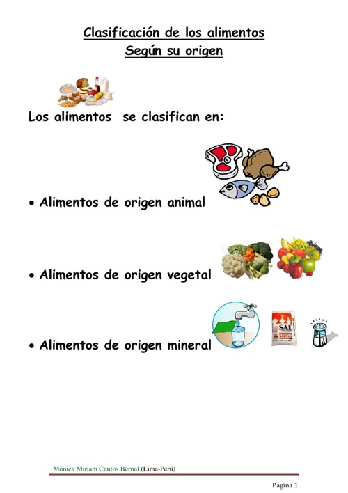 Copy of Origen de los alimentos