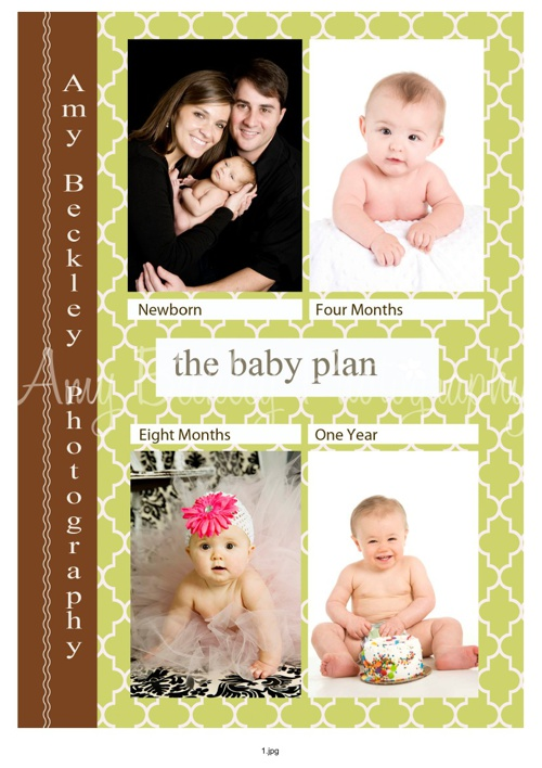 Amy Beckley Photography Baby Plan Brochure