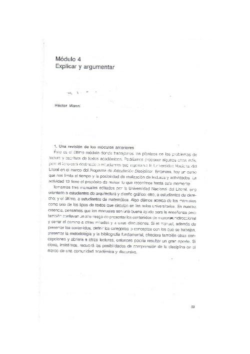 EXPONER Y ARGUMENTAR