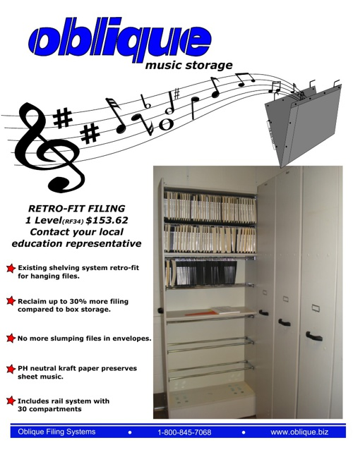 Oblique Music Storage