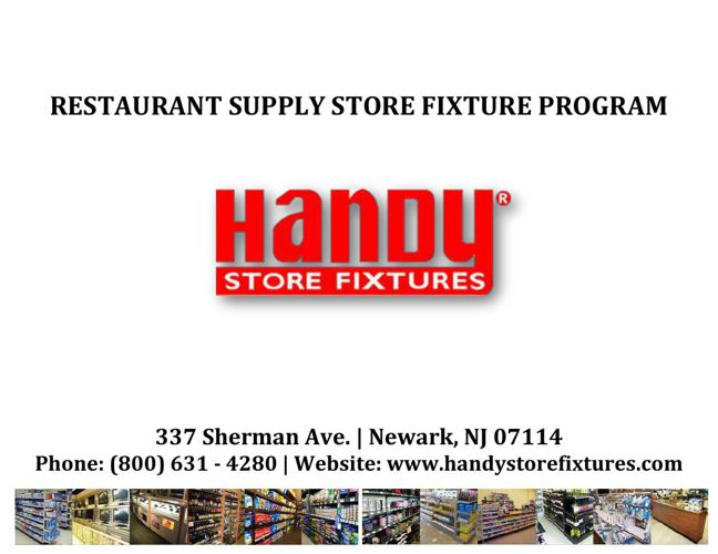 Handy Store Fixtures Restaurant Supply Catalog
