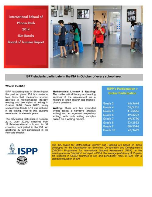 ISA Board Report 2014