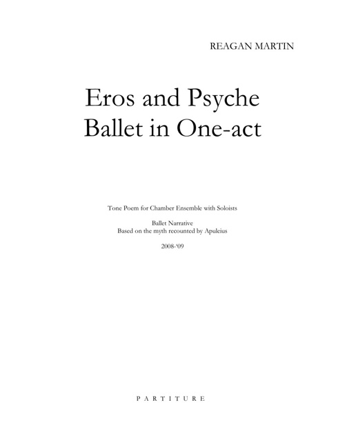 Eros and Psyche Ballet in one act