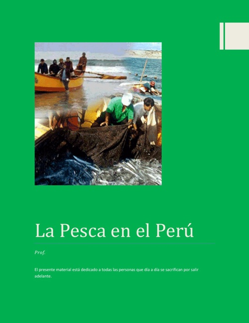 La Pesca en el PErú