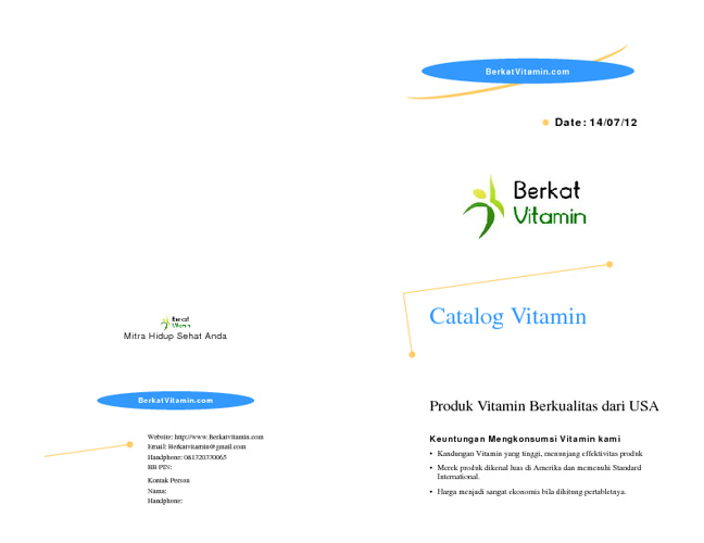 Berkat Vitamin Katalog
