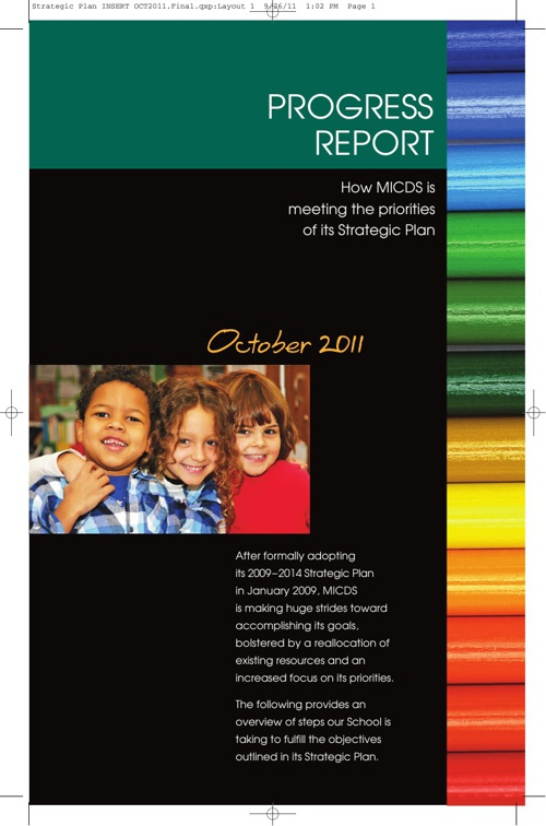 October 2011 Strategic Plan Progress Report