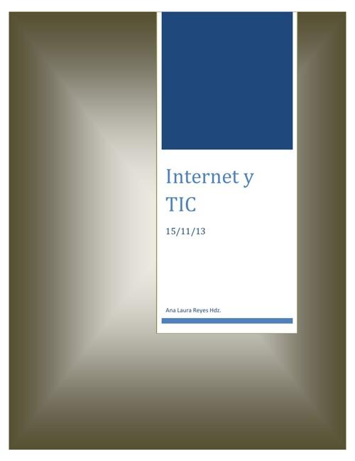 Internet y TIC Word