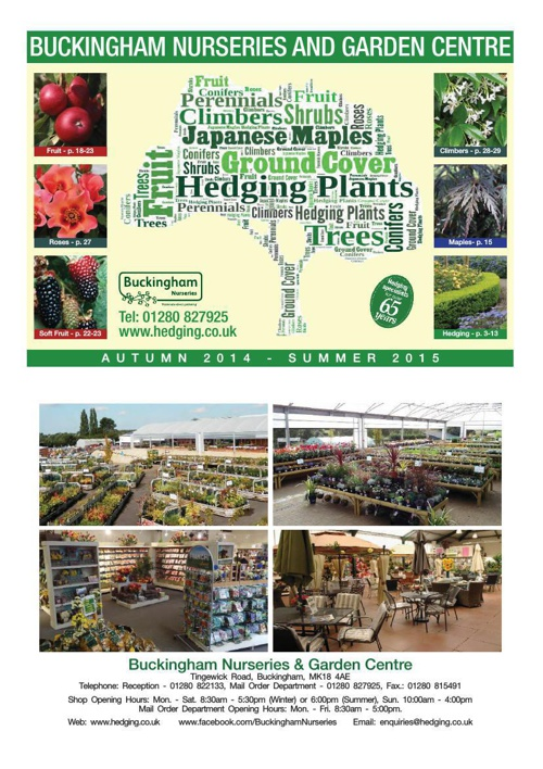 Buckingham Nurseries 2014-2015 Catalogue