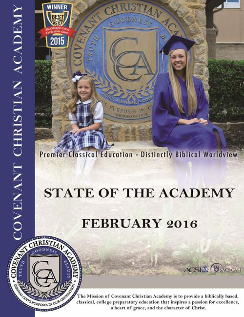 Covenant Christian Academy, State of the Academy 2016