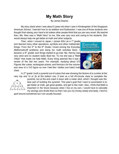 My math story