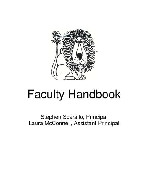 Faculty Handbook